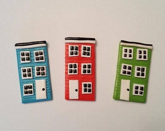 Rowhouse Pin/Magnet/Ornament
