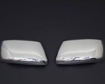 Nissan navara d40 chrome mirror caps stainless steel protection 5 year warranty 2006-2015