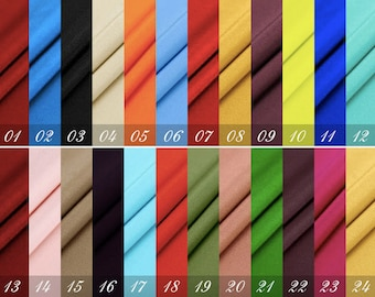 """Silk Crepe de Chine, PRESHRUNK, 45"""" 16mm, 60 colors to choose (No. 1-24), 100% fine Silk Fabric for dresses,Skits,shirts, pants, by the yard"""