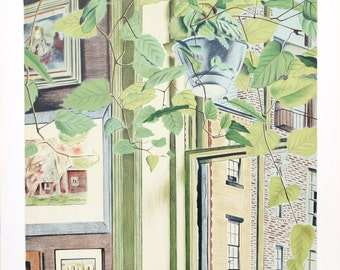 Hanging Plant by Henry Fonda, Lithograph, c. 1982