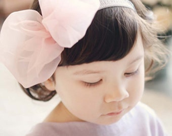 Bow ribbon headband for baby