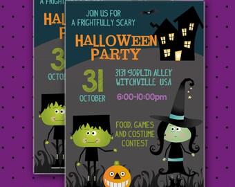 Halloween Party Invitation, Custom Invitations, Halloween Party