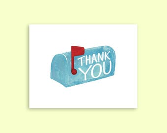 Thank You Mailbox A2 Greeting Card
