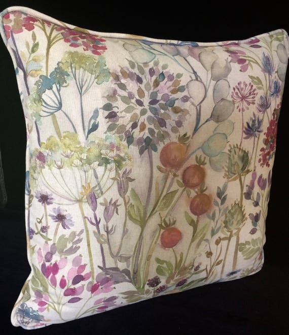 "VOYAGE HEDGEROW cushion cover in Multi Colourway, 20"" decorative pillow, 20 inches voyage pillow, gift for new home"