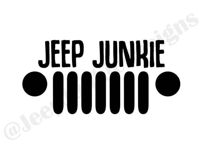 Jeep Junkie JK Vinyl Decal
