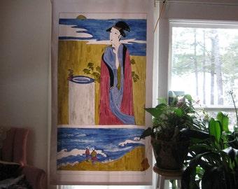 Japanese figures window shade