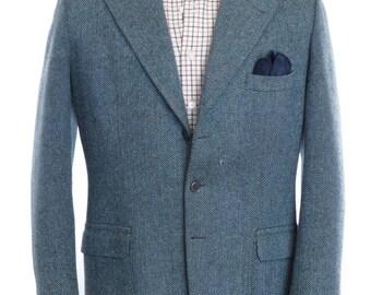 Size ~41L - Nicolás Fiordalisi VTG bespoke heavyweight herringbone tweed sport coat