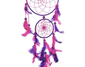 Pink and purple dream catcher