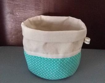 Recycled clothing storage basket