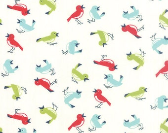 Vintage Picnic Early Bird Cream Natural Fabric by Bonnie and Camille for Moda Fabrics
