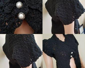 Cotton black shrug
