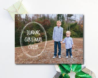 """Photo Christmas Card. """"Sending Christmas Cheer""""."""