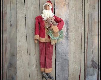 Instant download pattern for tall primitive folk art Sant rag doll HAFAIR ofg faap Lucys Lazy Dayz PDF426