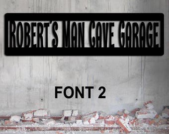 Man Cave Sign - Personalized - Large Size - Garage Sign Custom Metal Sign - Father's Day