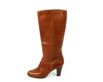 1970's Kinney Shoes Tall Campus Boots, Women's 8 1/2 B