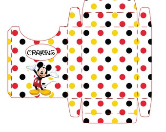 mickey mouse Crayon box  pdf instant download print as many as you wish