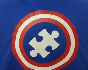 Autism Awareness - Captain Superhero Adult
