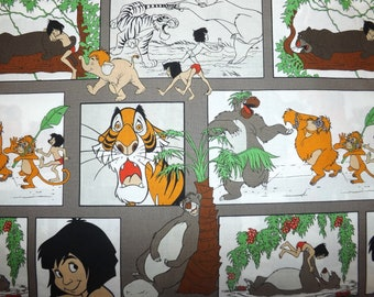 Jungle Book fabric by Camelot Cotton's Panel