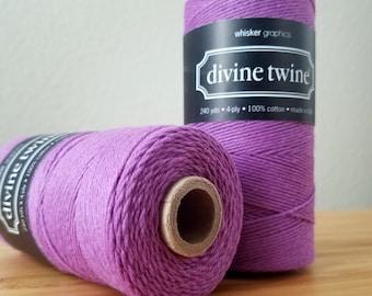 Purple twine - full spool - 240 yards - Solid Plum Divine Twine bakers twine