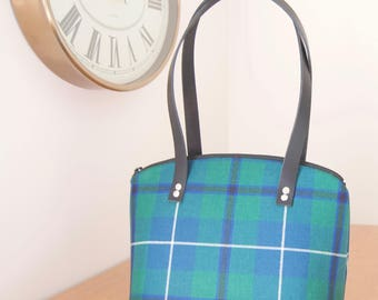Custom made tartan bag, handmade handbag using your clan tartan, Clan Tartan Handbag