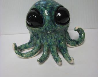 Alien Eyed Octopus Sculpture