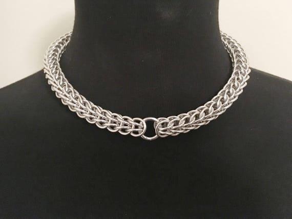 Chainmail bondage collar #2