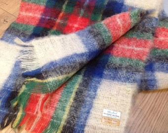 Vintage Dress STEWART TARTAN Mohair and Wool Scarf Wrap Stole