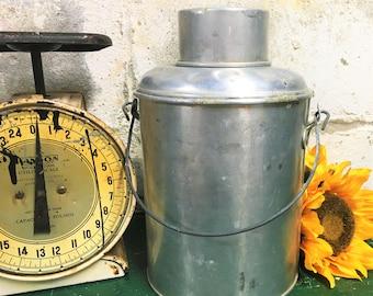Vintage Faris Jug Farmhouse Decor Aluminum