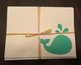 Whale Notecards, Set of 4