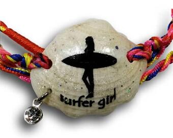 Boho Wrap Bracelet Rainbow Colors Wrap Bracelet Beach Wrap Bracelet Surfer Girl Shell Wrap Bracelet Seashell Jewelry Beach Shell Bracelet