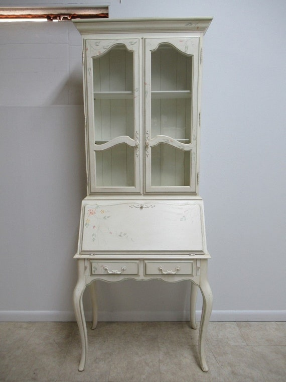 Ethan Allen Country French Paint Decorated Ladies Writing Desk Secretary
