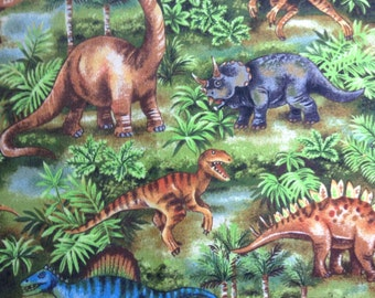 SALE - One Half Yard of Fabric Material - Dinosaurs