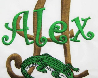 PILLOWCASE Crocodile Personalized Pillowcase