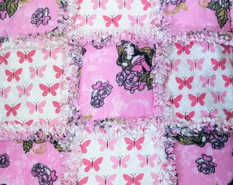 "Disney Princess Arora from Sleeping Beauty Pink Butterflies 18"" Doll Rag Quilt American Girl Disney Princess Frozen Madame Alexander Reborn"