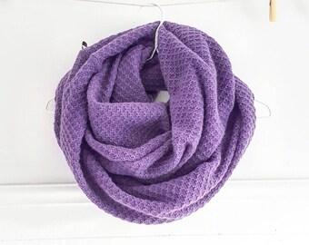 Purple ANNETTE / scarf / infinity