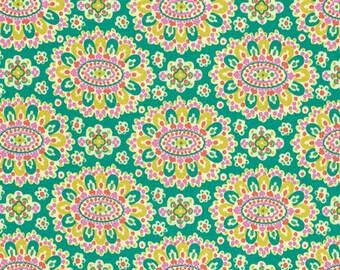 Amy Butler Eternal Sunshine Cloisonne in Field cotton quilt fabric - fat quarter, Amy Butler fabric