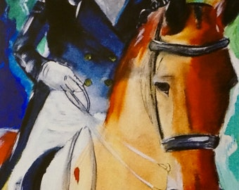 Horse Print, Dressage, giclee reproduction.  16 x 20 with 1/2in white border