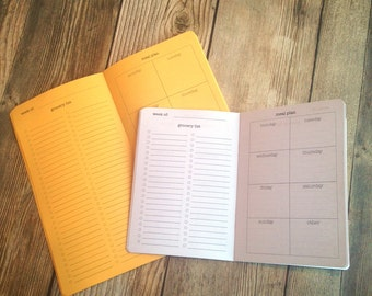 MEAL PLANNER Traveler's Notebook Insert  - Choose from 22 colors - 8 sizes available