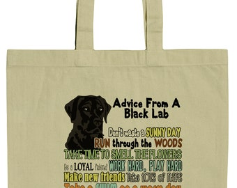 Advice From A Yellow Lab Labrador Retriever Canvas Tote Bag