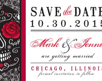 Day of the Dead Save the Date Postcard
