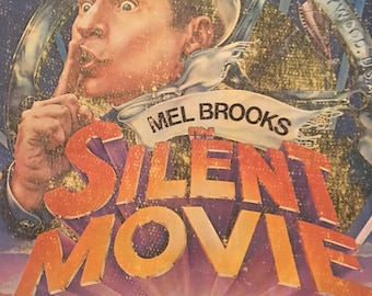 Mel Brooks In Silent Movie Vintage 1976 Baby Blue Iron On T-Shirt