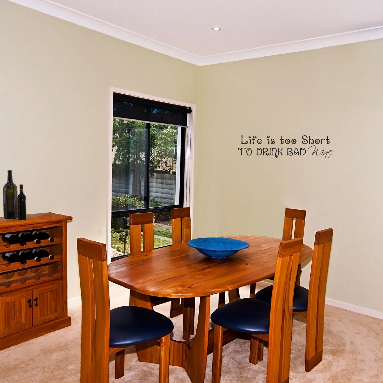 Küche/Wein Vinyl Wall Art Decor Leben ist zu kurz zum