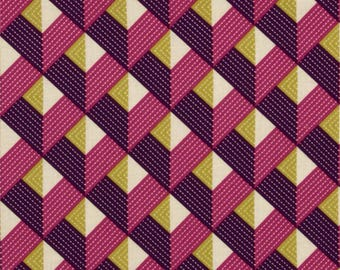 Joel Dewberry Fabric, Bungalow, Chevron in Lavender, By the yard, choose fabric cut, geometric