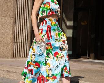 SALE! Maxi skirt, women skirt, summer skirt, print skirt, skirt with pockets,  skirt long, skirt maxi, clothing women