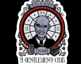 Individual Die Cut A Gentleman's Club Sticker (Item 01-018)
