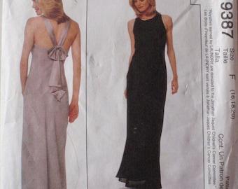 Laundry by Shelli Segal Sewing Pattern - Misses/Misses Petite Lined Bias Dress - McCalls 9387- Sizes 16-18-20, Bust 38 - 42, Uncut