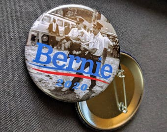 THREE Bernie Sanders 2020 Resist Pinback Buttons