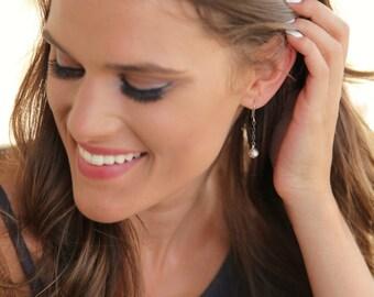 Dainty Jewelry, Simple Earrings, Sterling Silver Simple Earrings, Modern Earrings, Dangle Earrings, Sterling Silver Modern Earrings Drops