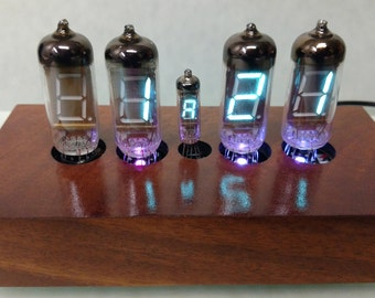 4 Digit RGB VFD Tube Alarm Clock, Custom Case