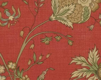 French General Favorite, Florence in Red,13547 12, Moda Fabric, Sold by 1/2 Yard